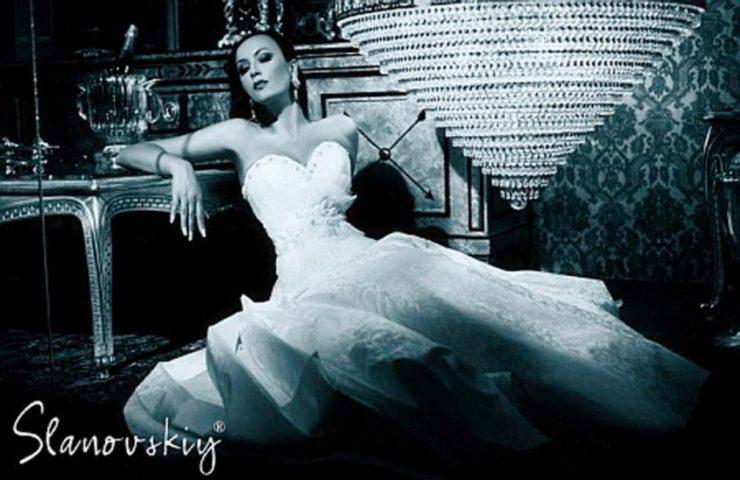 Наталья Ворона для рекламы свадебных платьев . Фотограф Геннадий Працевич.