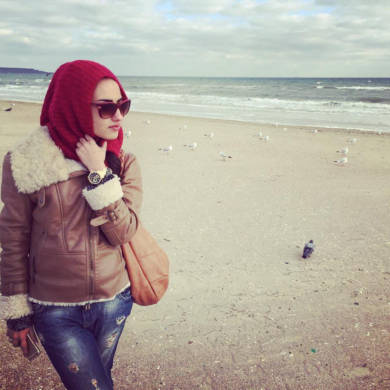 Катя Мирецкая Одесса осенний пляж