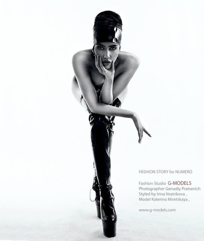 Катя Мирецкая чёрно белое стильное фото