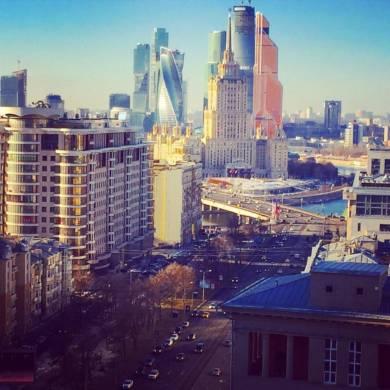 Москва красота с 24 этажа. Мы на съёмке рекламы щампуня для волос.