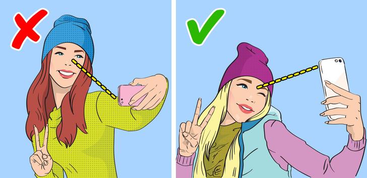 секрет как получаться классно на селфи